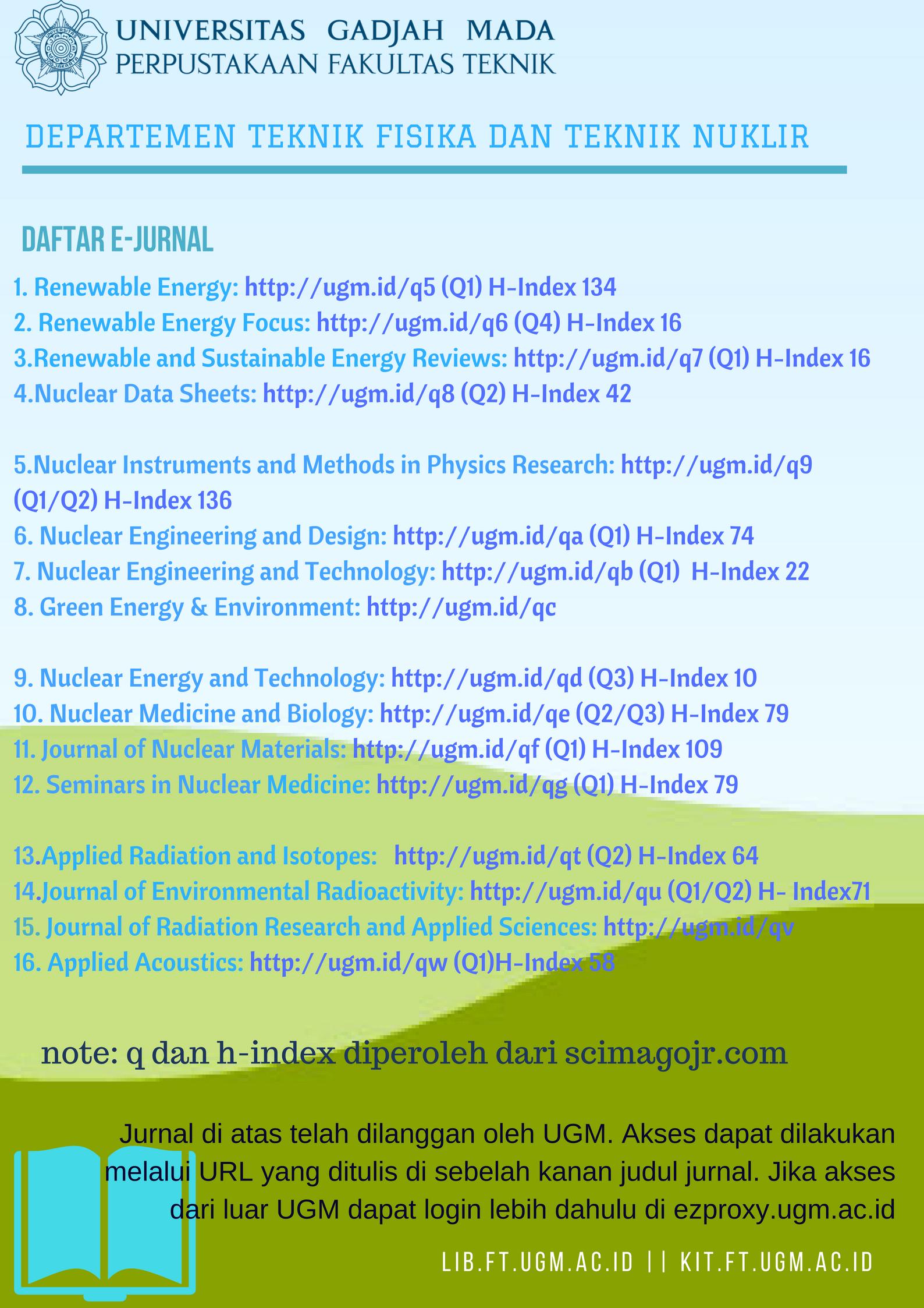 e-jurnal bidang teknik fisika dan teknik nuklir