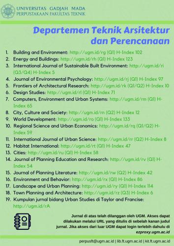 Jurnal bidang Teknik Arsitektur dan Perencanaan